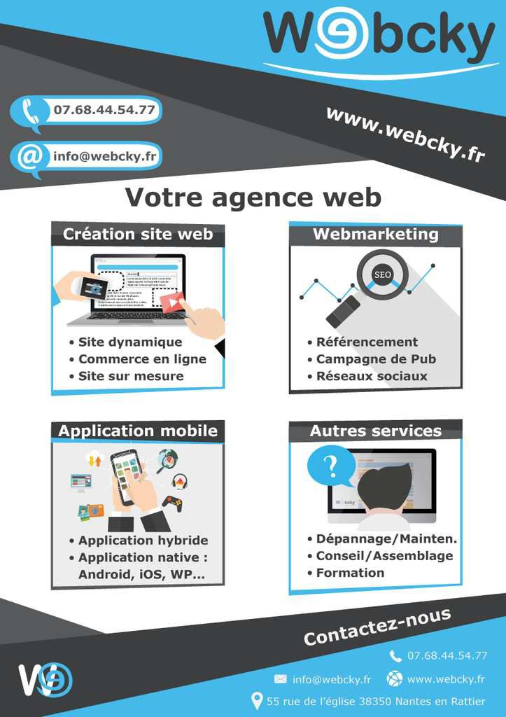 nouvelle cr ation webcky flyer publicitaire webcky cr ation de site internet web marketing. Black Bedroom Furniture Sets. Home Design Ideas
