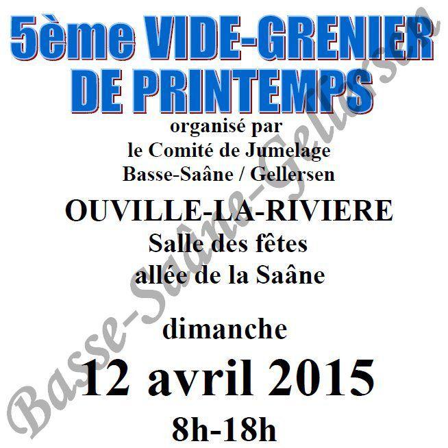 Vide-Greniers de Printemps #5 - Dimanche 12 Avril 2015