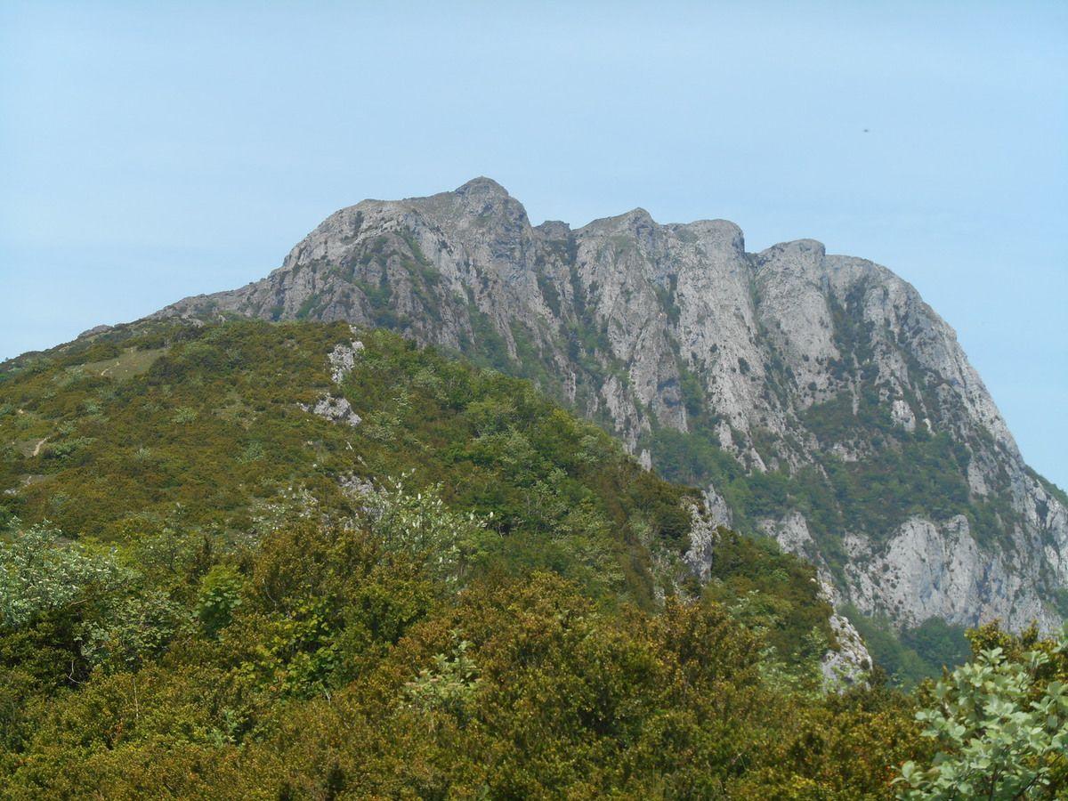 Ah le Bugarach un très bon souvenir de cette journee . Point culminant du massif des Corbières (1 230 m), ce belvédère insolite s'impose par son élégance et offre de multiples aspects : vue panoramique, escarpements rocheux, paysages variés, flore diversifiée, singularité géologique et climatique, tout y est ! Depart du lieu dit les Pastressis direction col de Pechines et la cheminement en crête. Passages un peu aériens entre le col de Péchines et le sommet du Bugarach. Il faut par endroit s'aider des mains (cotation II).