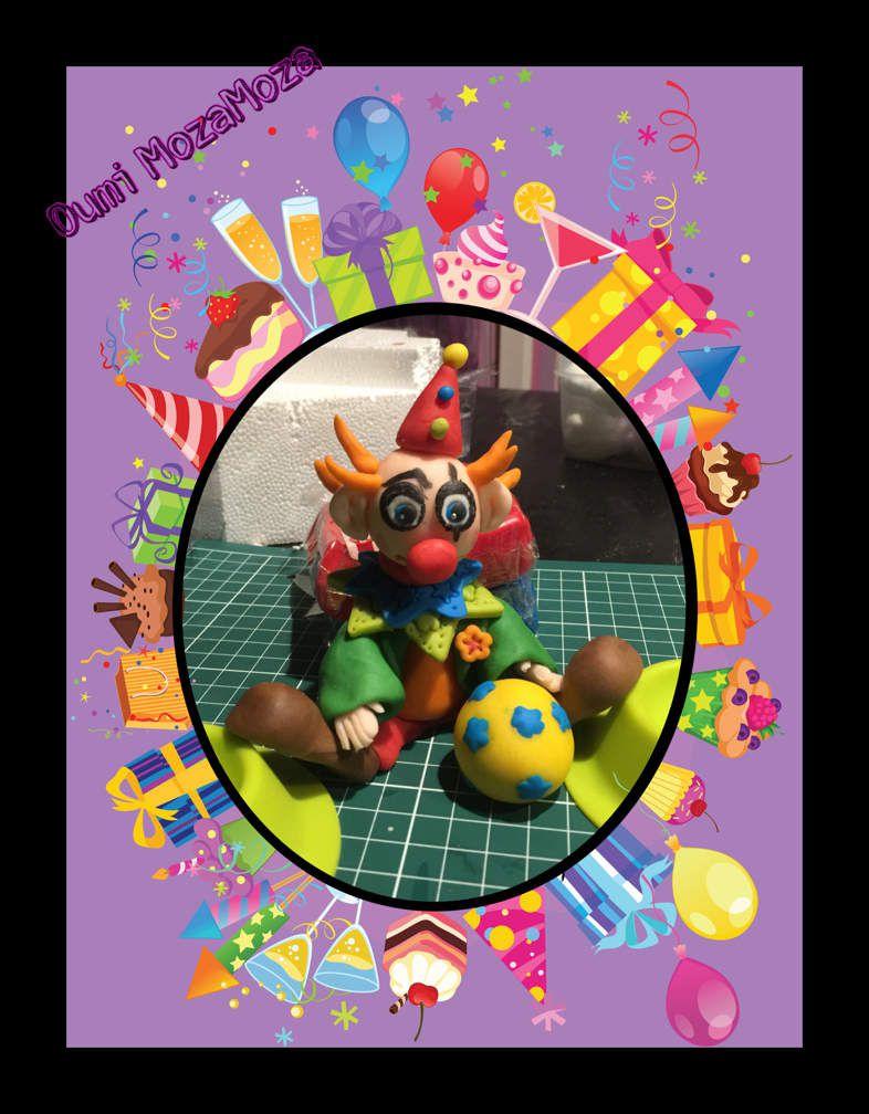 Gateau clown pour le carnaval de Zayane (24/03/16)