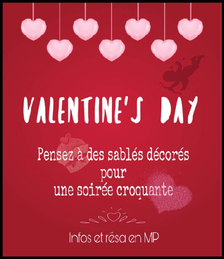 La saint Valentin, soirée douceur .... commandez dès maintenant vos sablés décorés à votre goût, pour une soirée unique et croquante ♥️