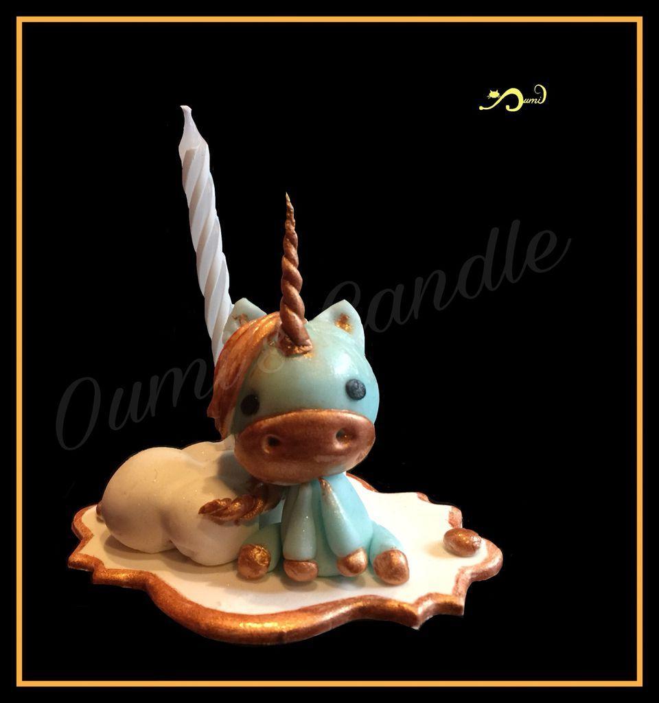 Support bougie licorne 🦄 au nuage ☁️ - modèle et peint à la main - https://m.facebook.com/oumozamoza/