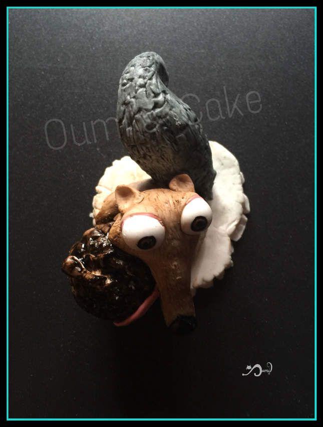 Scrat modelé à la main en pate à sucre - 5 cm de haut