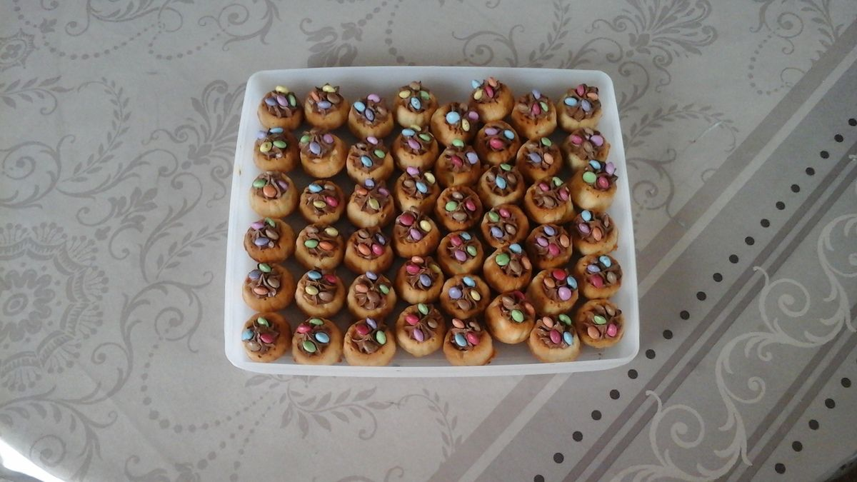 Financiers,ganache, minis-smarties