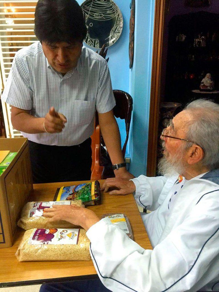 Cuba : Evo Morales rencontre Fidel Castro à La Havane