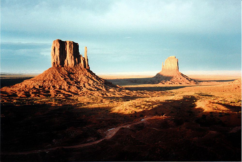 Scan d'une photo papier que j'avais prise en 1986 à Monument Valley