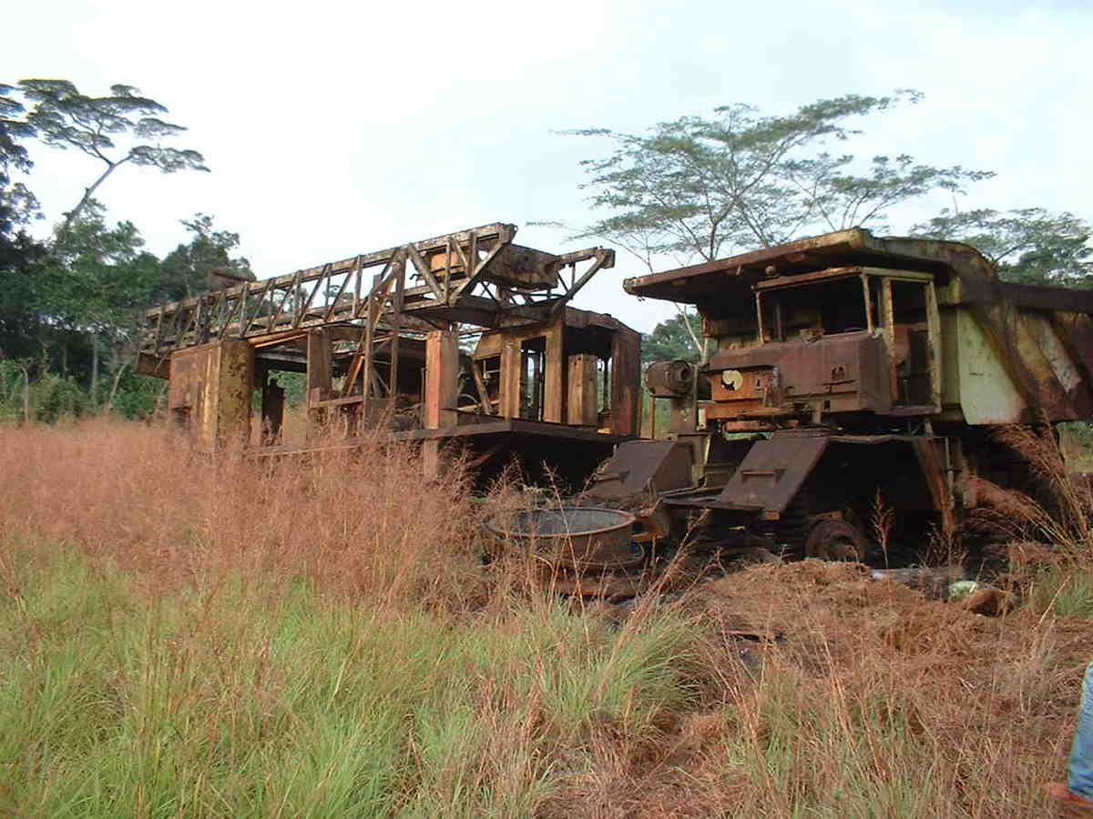 Liberia : Les mines de fer du mont Nimba -Yekepa
