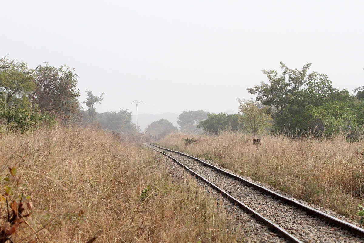 La voie après Banfora vers la frontière Ivoirienne