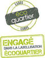 Une représentation du label éco-quartier, semblable à celui obtenu par celui de Fréquel-Fontarabie