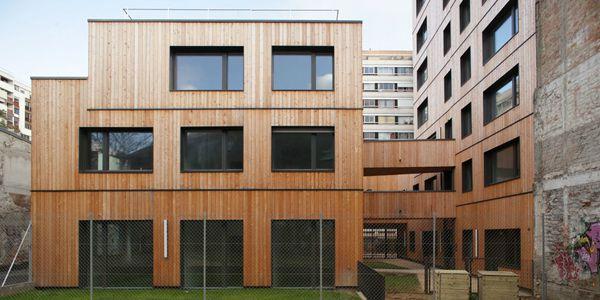 Un bâtiment de l'éco-quartier