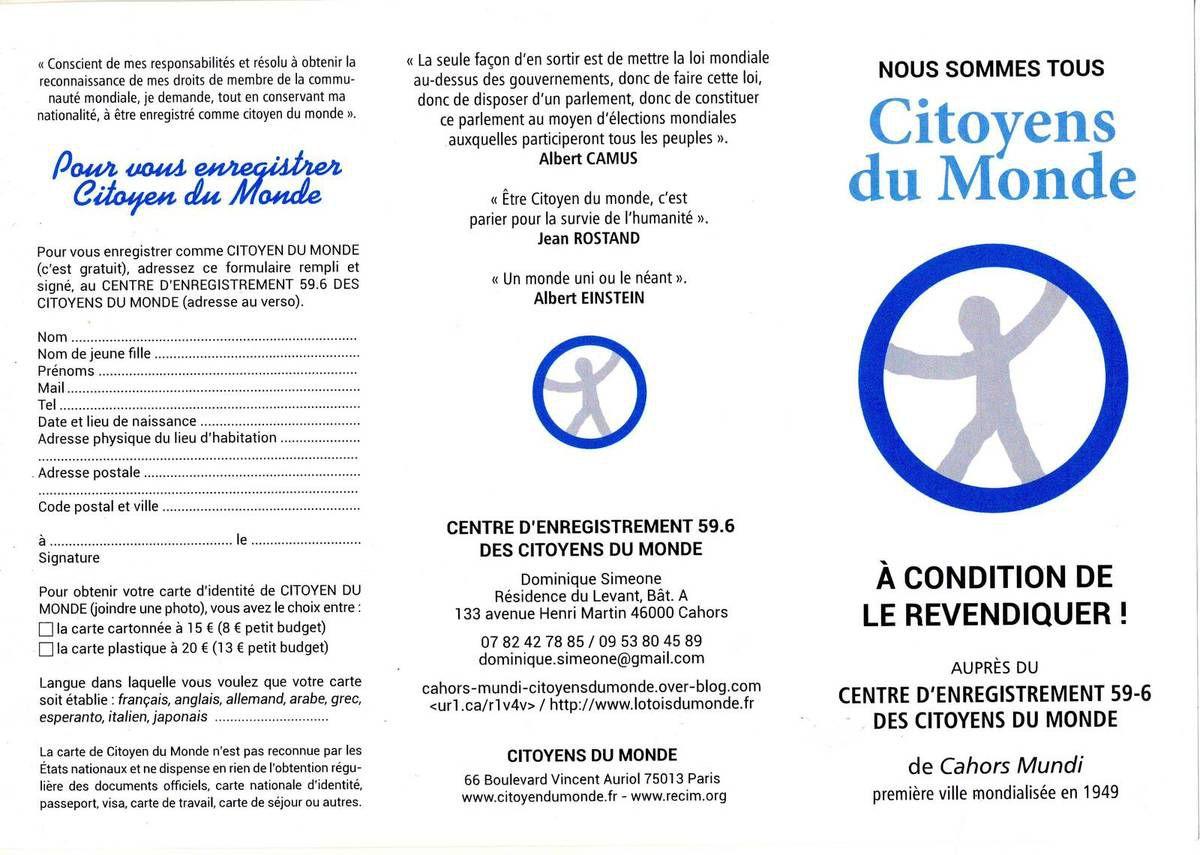 Dépliant du Centre d'enregistrement de Cahors 1
