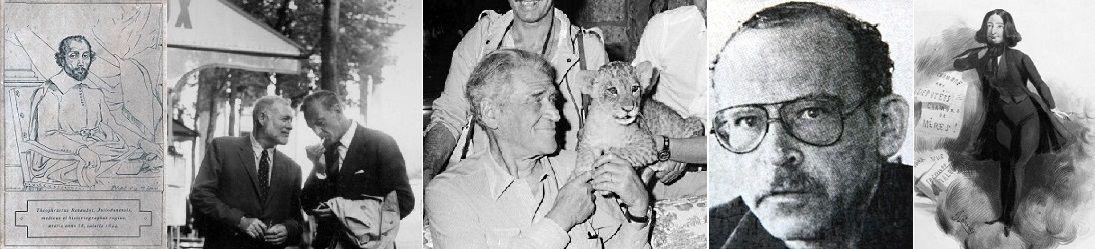 Théophraste Renaudot, Ernest Hemingway àParis avec son ami Gary Cooper, Joseph Kessel, Gunter Wallraff, George Sand