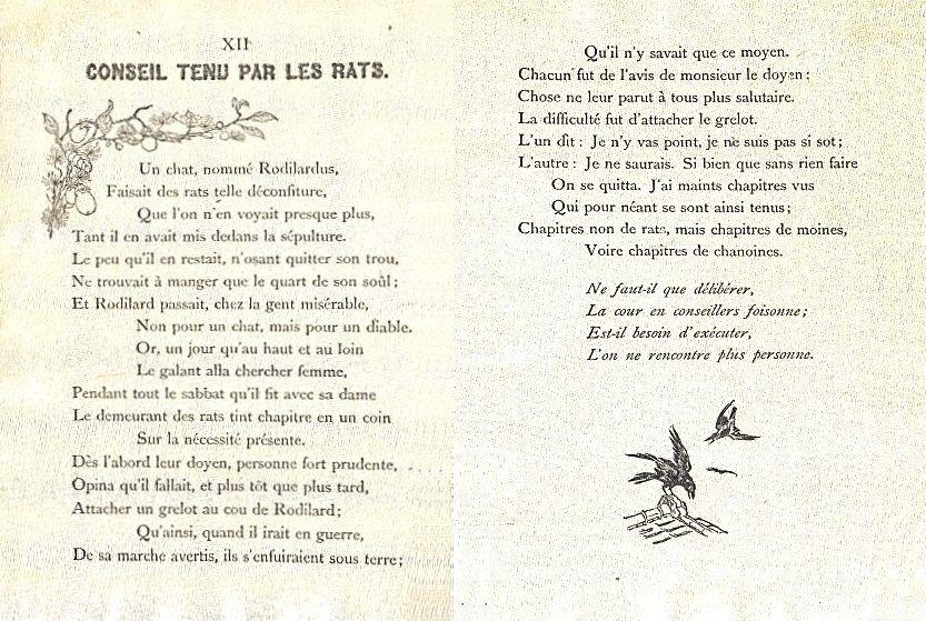 Conseil tenu par les rats – Jean de La Fontaine