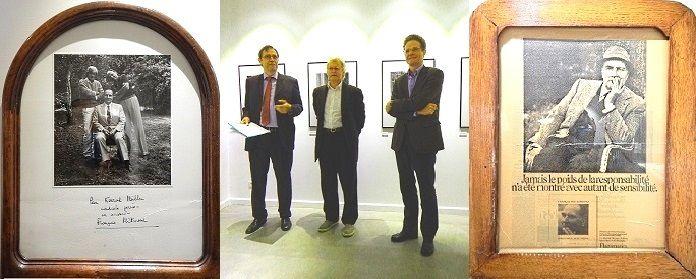 Le président Mitterrand à gauche – Konrad Rufus Müller entre le conseiller Klassen et S. E. Meyer-Landrut –  Le président Mitterrand à droite