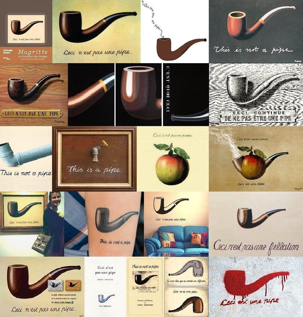 La trahison de la pipe par Magritte et consors
