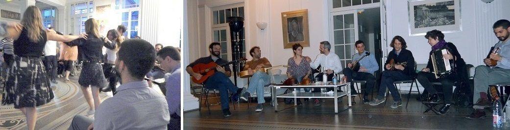 La salle – Le concert avec deux nouveaux musiciens