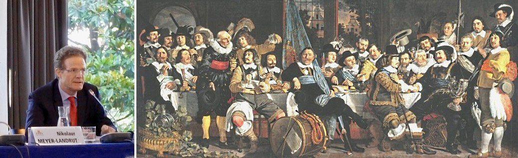 L'ambassadeur d'AlIemagne – Le banquet de la garde civile d'Amsterdam fêtant la paix de Münster (Traité de Wesphalie) par Bartholomeus van der Helst