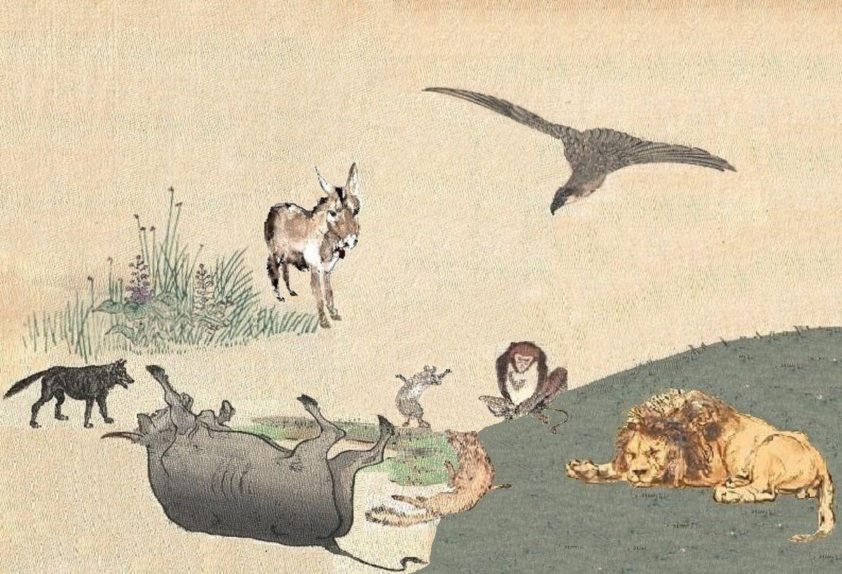 Les Animaux malades de la Peste par Jean de La Fontaine - saga6t
