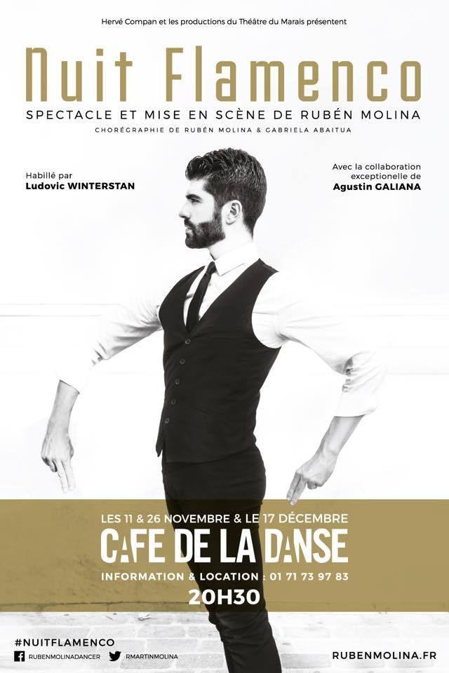 Nuit Flamenco de Rubén Molina de retour à Paris !