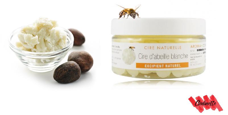 Beurre de karité et cire d'abeille