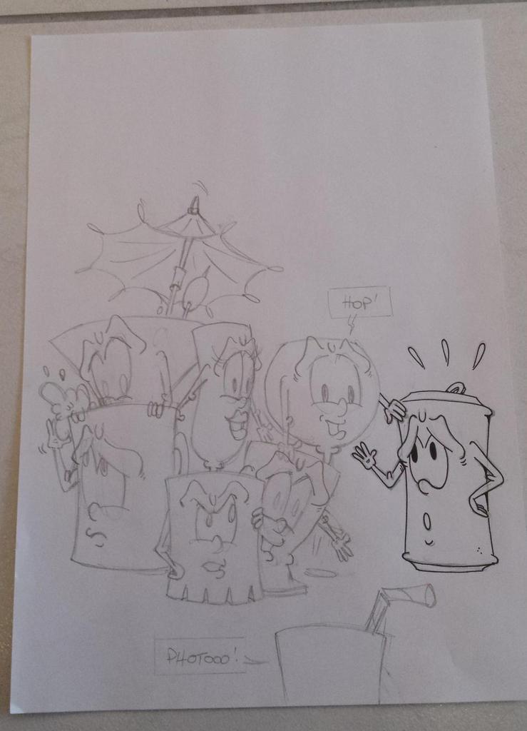 Voici les étapes de la création de ce dessin...