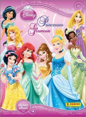 Princesses Glamour Dinsey - Stickers panini - 2013