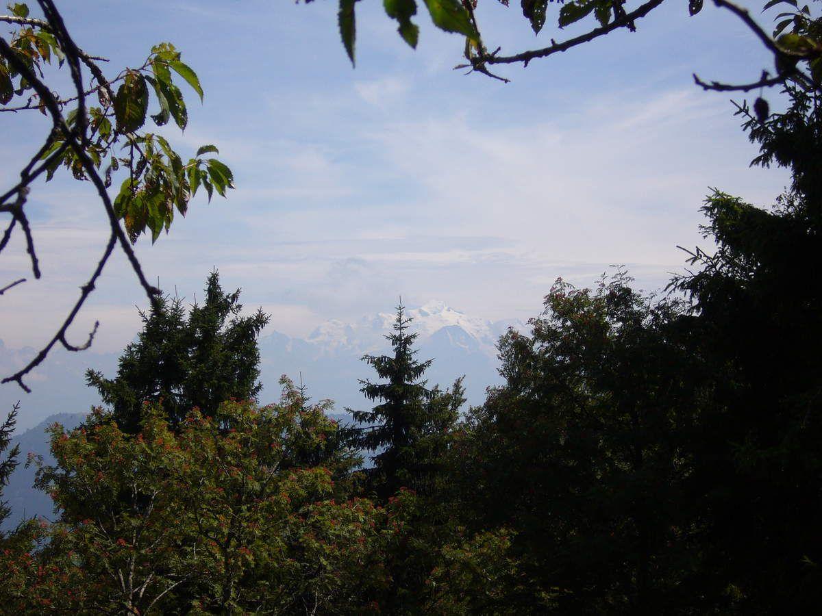 On peut distinguer le Mont-Blanc