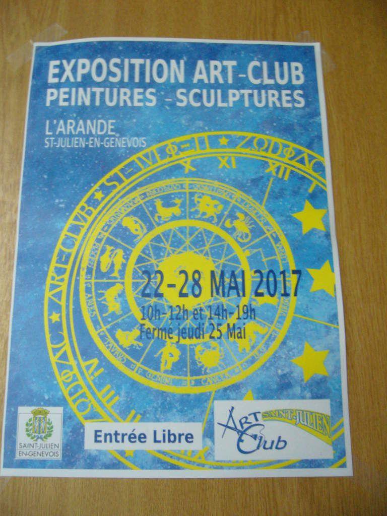 EXPO ART-CLUB DE ST-JULIEN ET PEINTURES EN CRÉATION À THAIRY