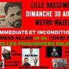 Rassemblement de soutien à la cause Palestinienne ce dimanche à Lille