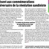 Le Parti Communiste Français aux cérémonies du 35ème anniversaire de la révolution sandiniste