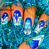 #galerie, Nail art, corset ambiance hivers, nounours, teddy bear