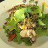 Salade de chipirons et feuilles d'ipomée...(ipoméa batatas)