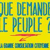 Que demande le peuple ? Questionnaire en ligne