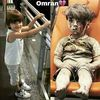 Omran before and after.  May god be with omran and all the children of ‪#‎Syria‬..