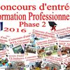 Concours professionnels 2016 - Phase 2