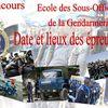Concours d'entrée à l'école des Sous-officiers de la Gendarmerie : Dates et lieux des épreuves