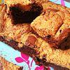 Brownie chocolat noir et...beurre de cacahuètes !