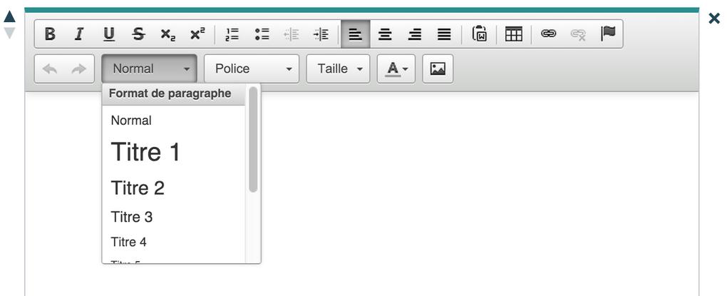 Les balises d'en-tête : Section Texte / Section Texte +