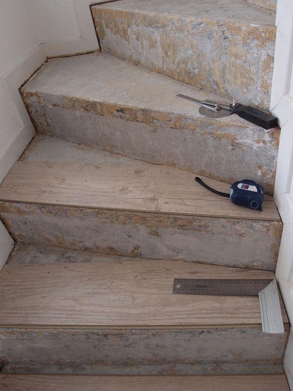 Poser du parquet flottant sur un escalier for Poser du parquet pvc