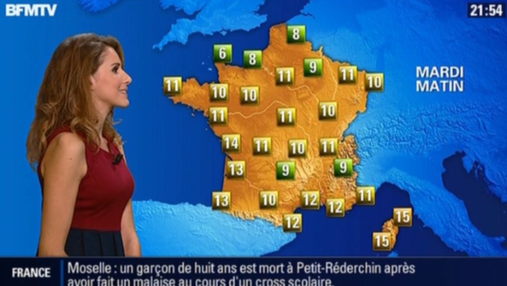 2013 10 14 - 21H50 - FANNY AGOSTINI - BFM TV - LA METEO