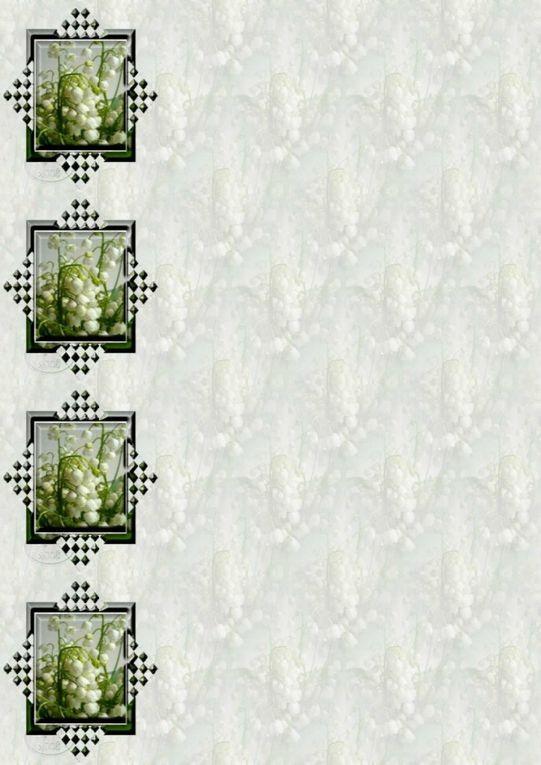 Fleurs Papiers A4 ( 12 pcs) (Muguets)