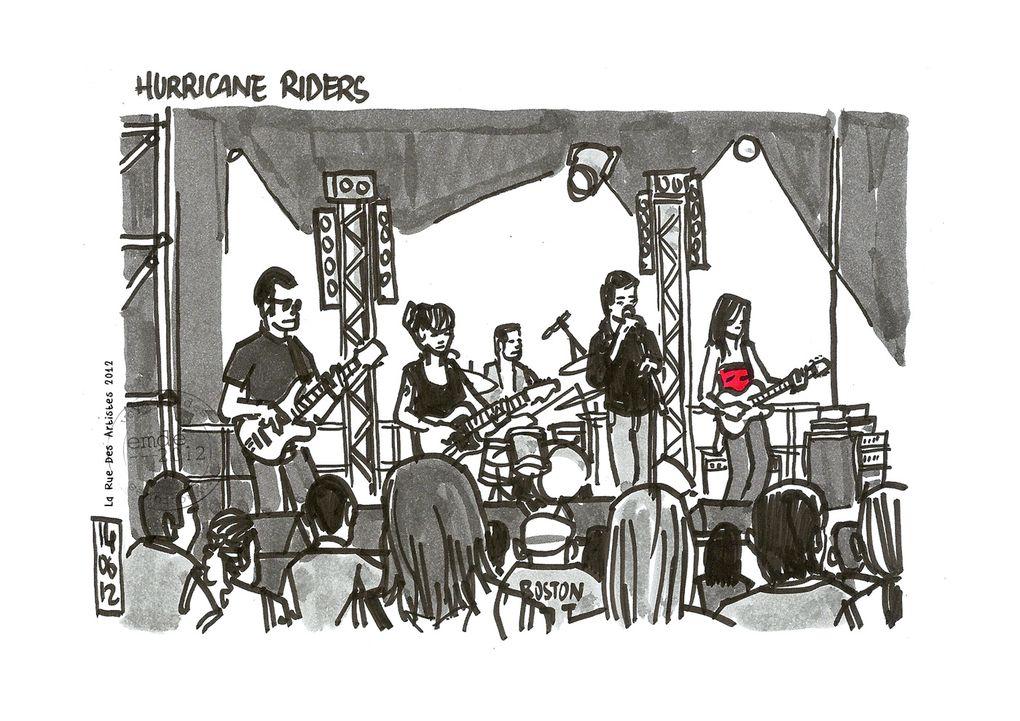 La Rue Des Artistes 2012 / croquis de concerts