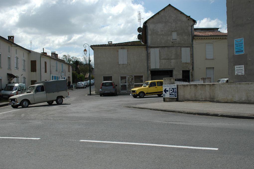 Quelques-uns des bolides dans les rues de Saint-Seurin...