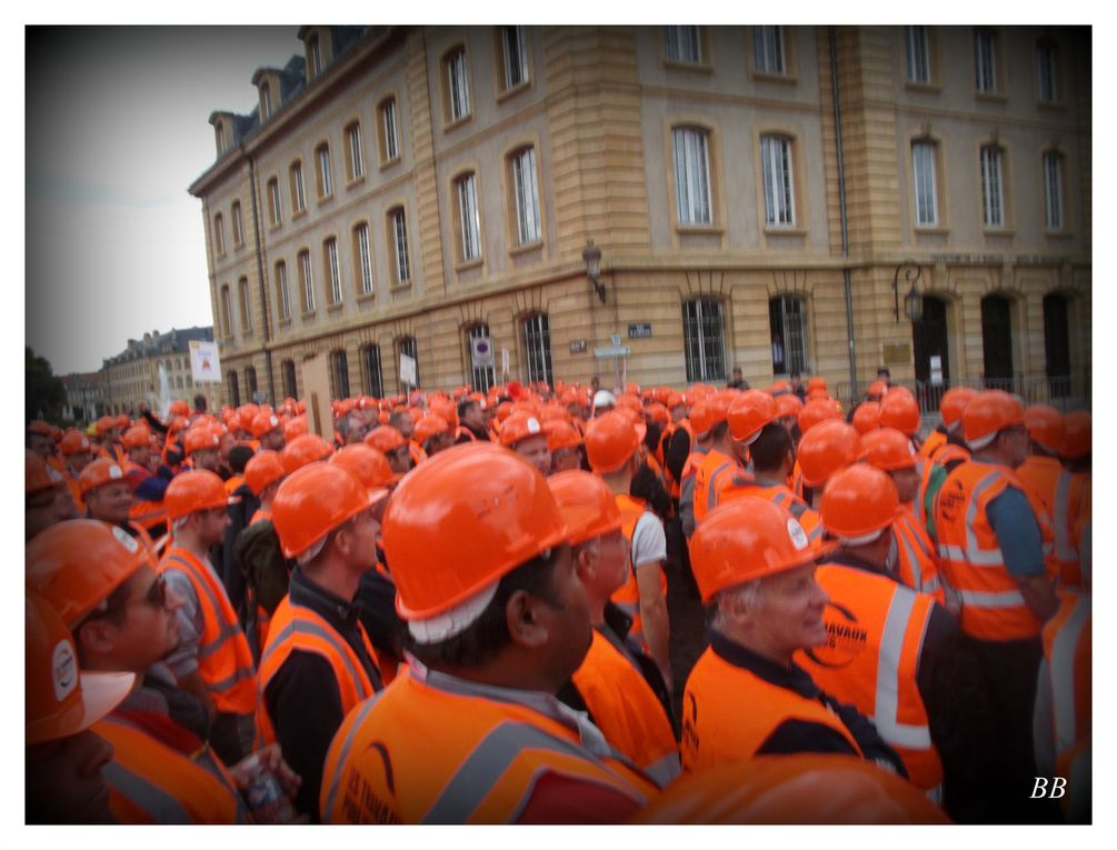 Manifestation des Travaux Publics Lorrains Metz