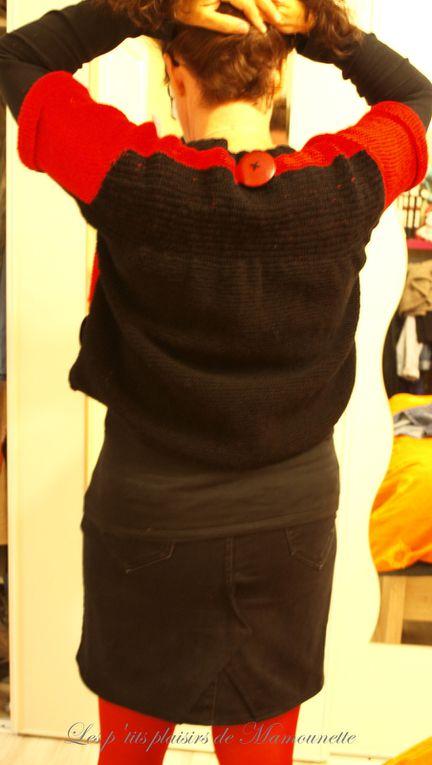 Mon pull en rouge et noir, suite et fin !