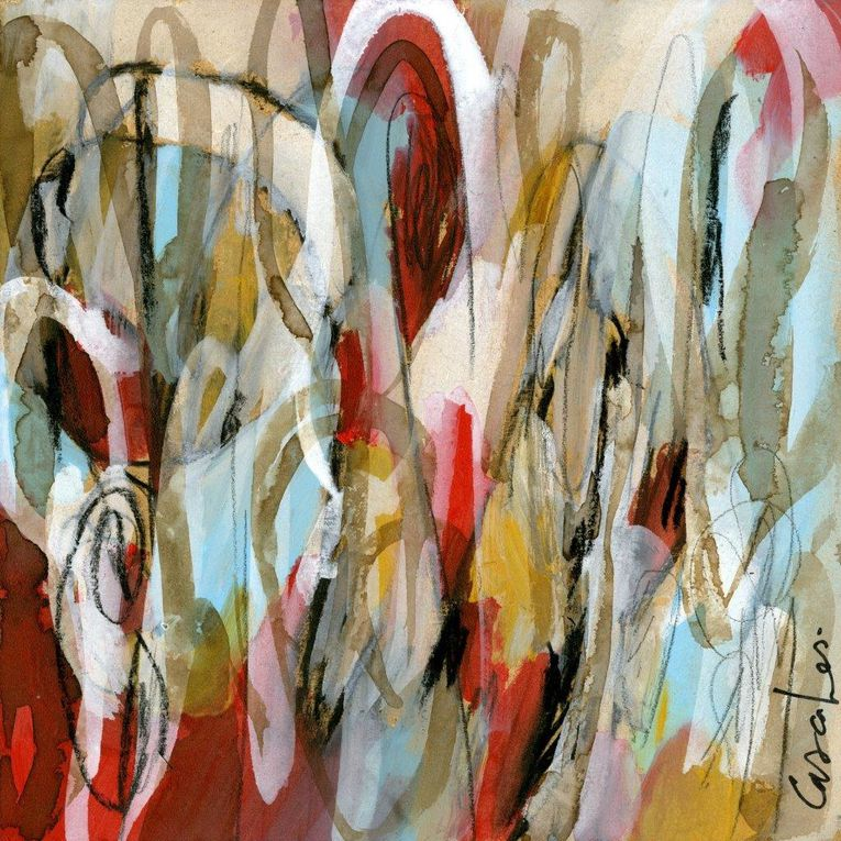 Pastel + Acrylique + Gouache sur médium / F : 30x30 cm / 2016