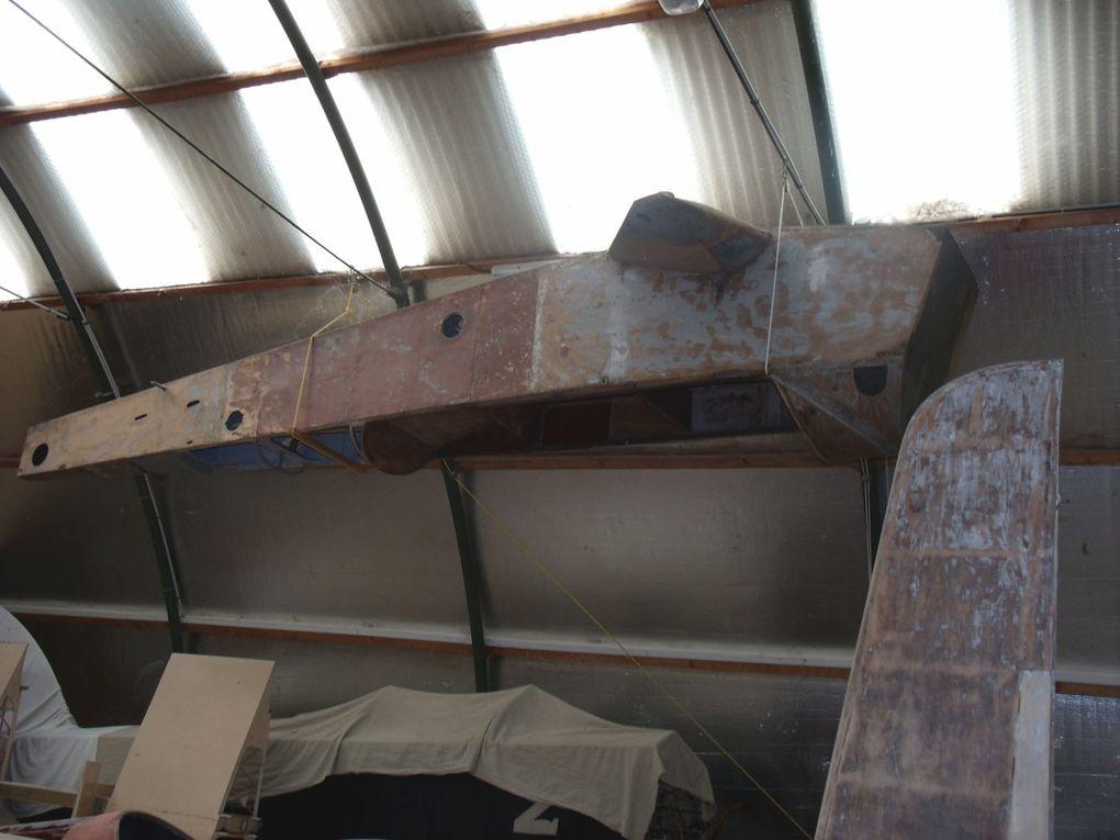 Le Potez 60 N°3855 est stocké à Orbigny attendant une futur remise en vol.