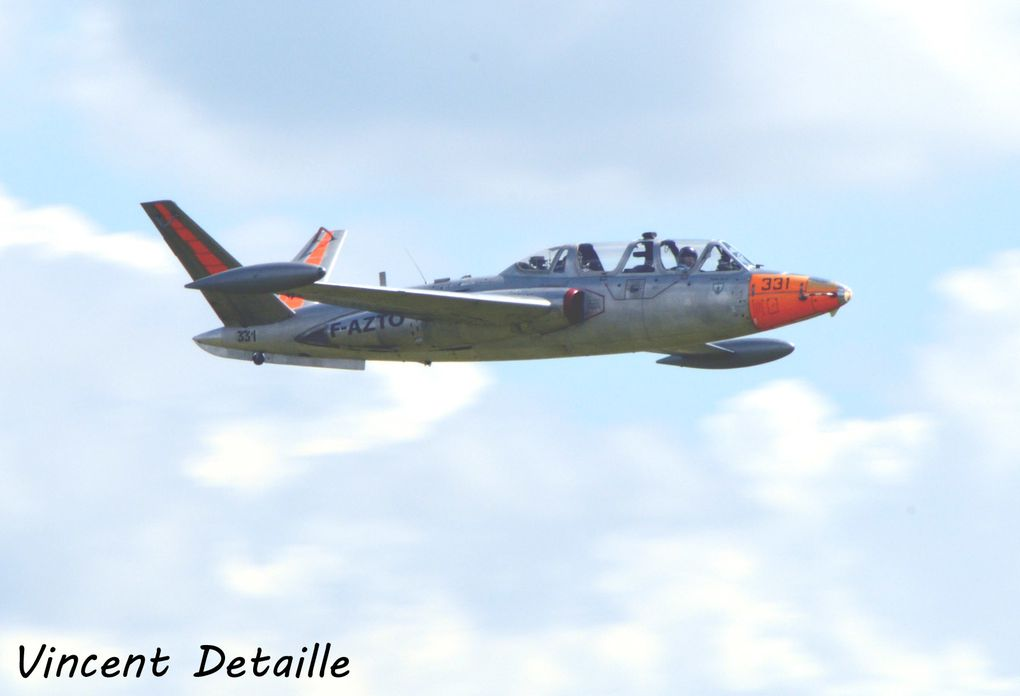 Le Fouga CM-170 Magister F-AZTO basé à Valencienne (photo: Vincent Detaille).