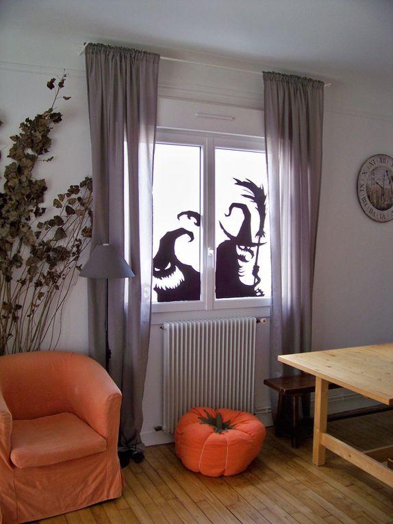 Ombres chinoises sur les fenêtres