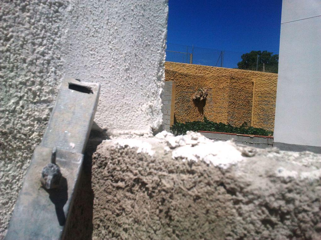 Ejemplo de pared medianera construida en la totalidad de la finca colindante, no por mitades.